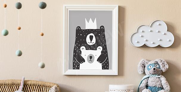 Plakat do pokoju chłopca: leśny biwak
