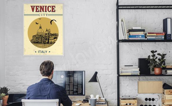Plakat Wenecja do biura