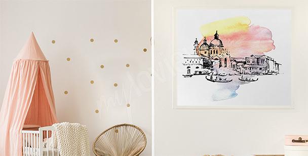 Plakat Wenecja do pokoju dziecka