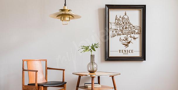 Plakat Wenecja do salonu