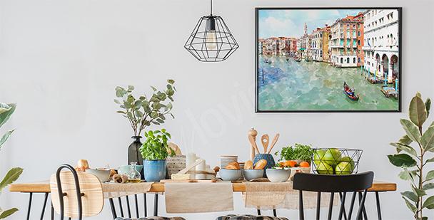 Plakat Wenecja malowany akwarelą