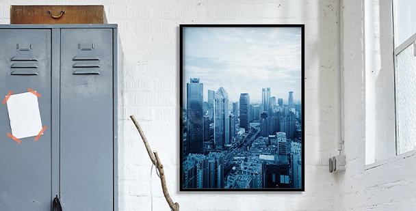 Plakat widok na Montreal