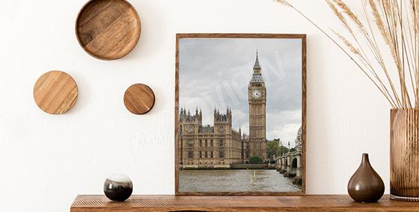 Plakat widok na parlament