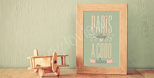 Plakat wycieczka do Paryża