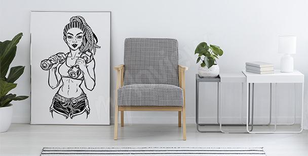 Plakat wysportowana kobieta