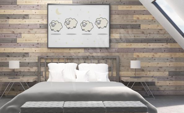 Plakat z barankami do sypialni