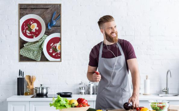 Plakat z barszczem do kuchni