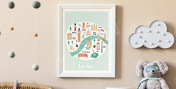 Plakat panorama Londynu