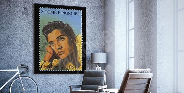 Plakat z Elvisem Presleyem