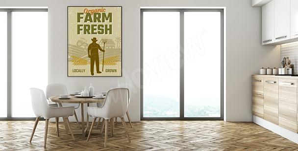 Plakat z farmerem do kuchni