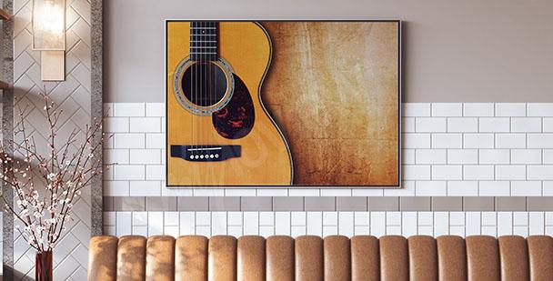 Plakat z gitarą akustyczną