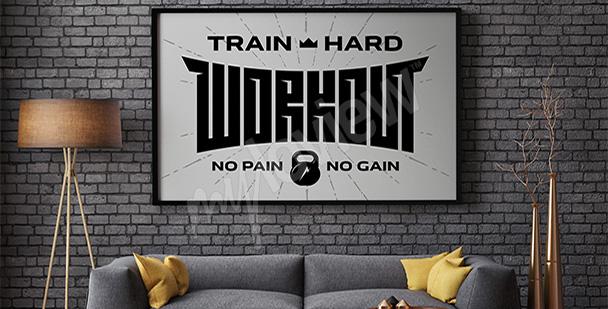 Plakat z motywacyjnym hasłem