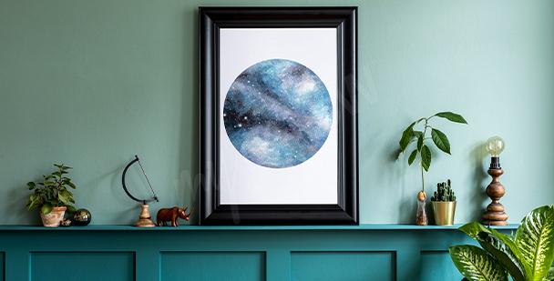 Minimalistyczny plakat Księżyc