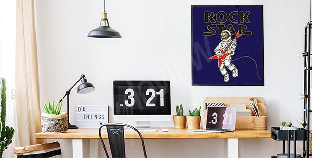 Plakat z motywem rockowym