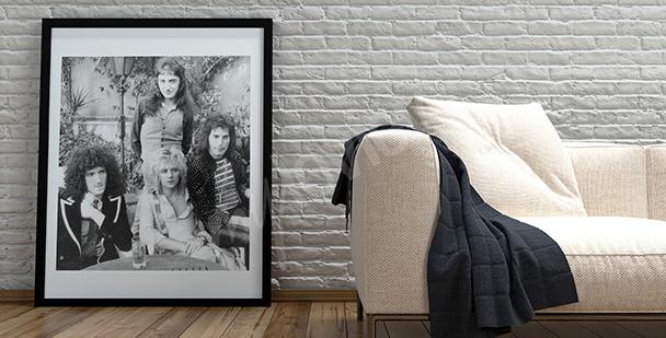 Plakat z muzykami zespołu Queen