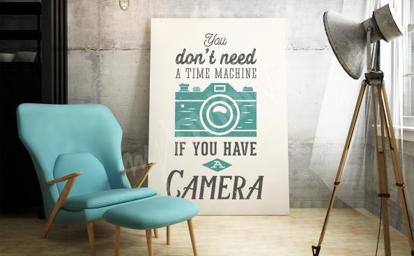 Plakat z napisami
