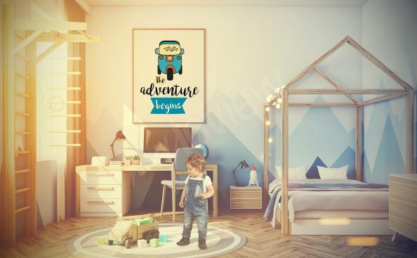 Plakat z pojazdem do pokoju dziecięcego
