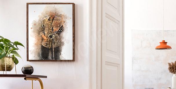 Plakat z saksofonistą