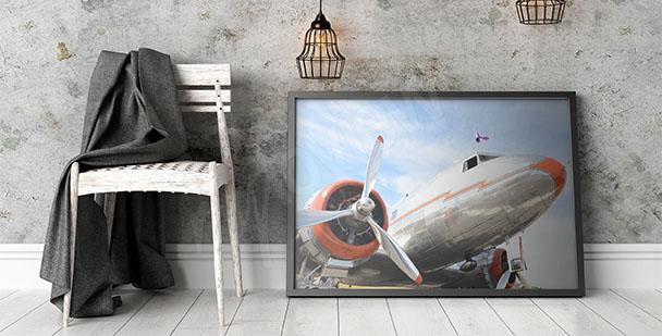 Plakat z samolotem dla nastolatka