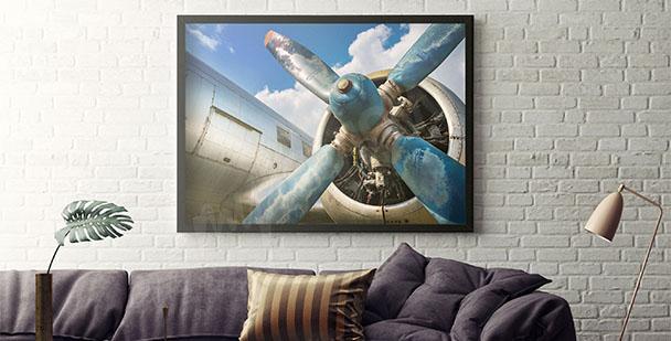 Plakat z samolotem do salonu