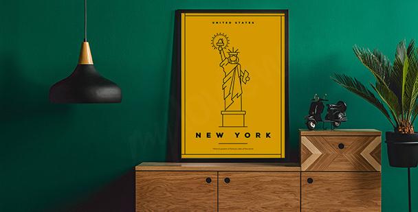 Plakat z symbolem Nowego Jorku