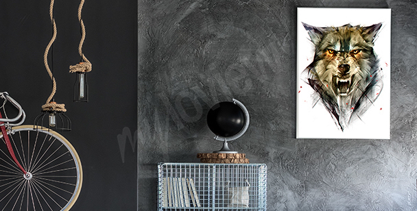 Plakat z wilkiem do przedpokoju