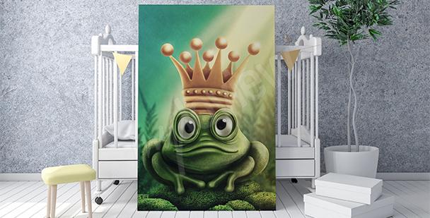 Plakat żaba w koronie