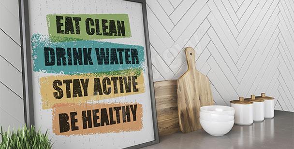 Plakat zdrowy styl życia
