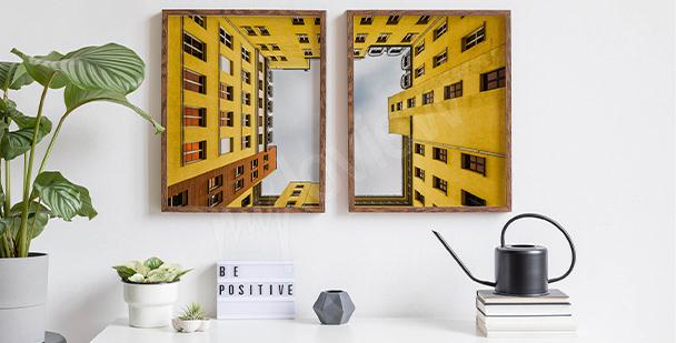 Plakat żółty blok w Berlinie
