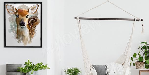 Plakat biały koń