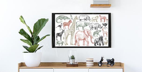 Plakat zwierzęta Afryki