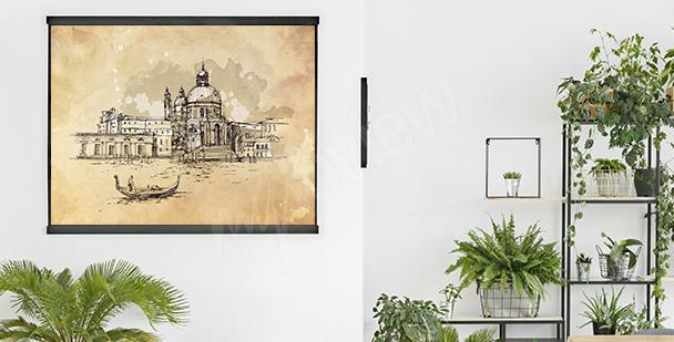 Retro plakat z Wenecją