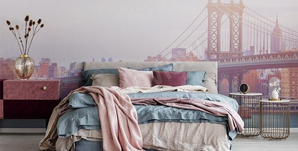 Romantyczna fototapeta do sypialni