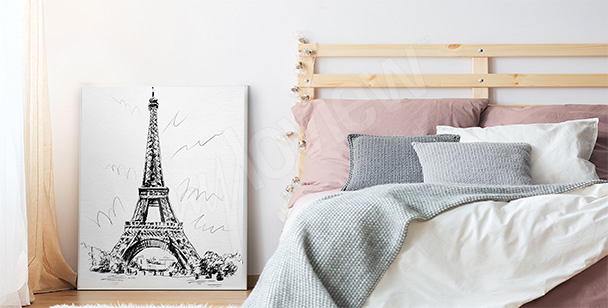 Romantyczny plakat do sypialni