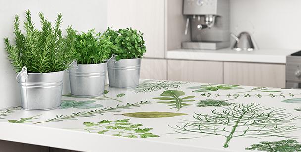 Roślinna naklejka do kuchni