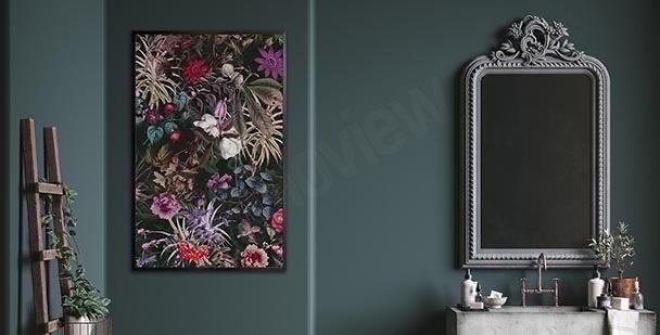 Roślinny plakat do łazienki