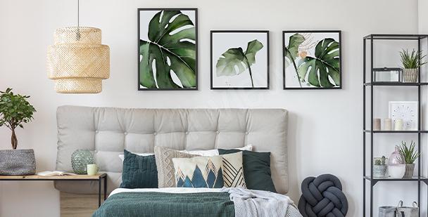 Roślinny plakat do sypialni