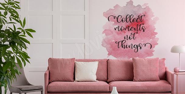 Różowa naklejka do salonu