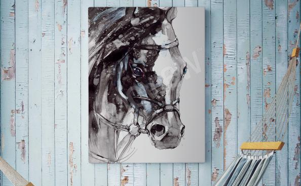 Rustykalny obraz z koniem