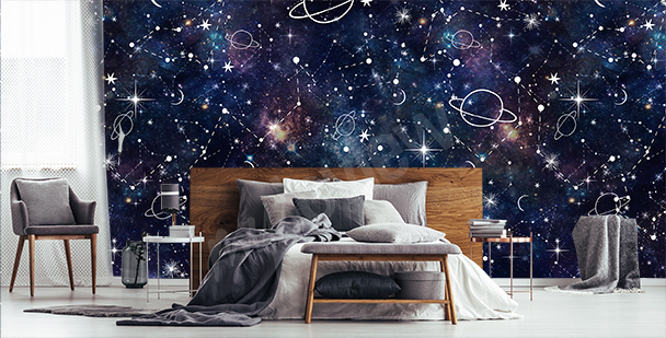Fototapeta galaktyka do sypialni