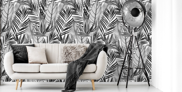 Tapeta akwarela czarno-biała