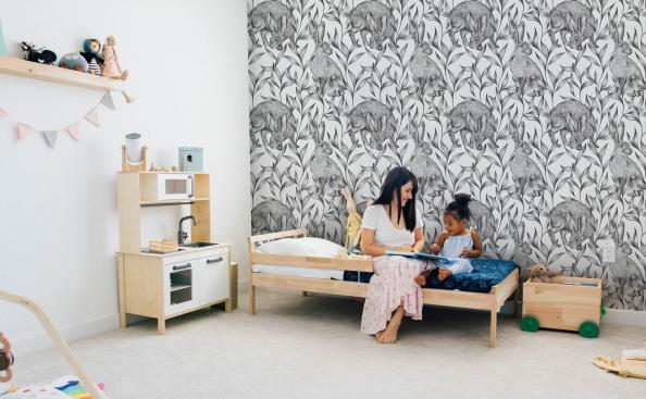 Tapeta czarno-biała do pokoju dziecka