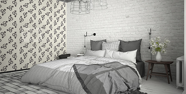 Tapeta czarno-biała do sypialni
