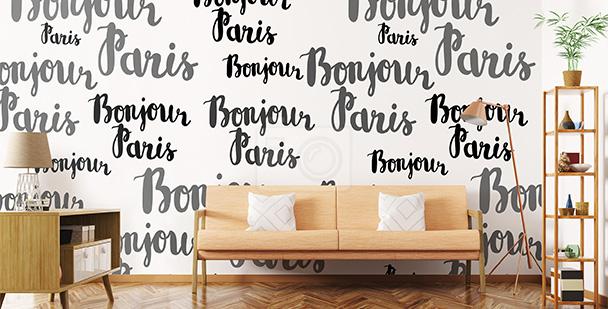 Tapeta czarno-biały Paryż