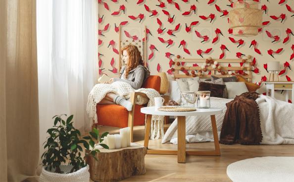 Tapeta czerwone szpilki - do pokoju nastolatki