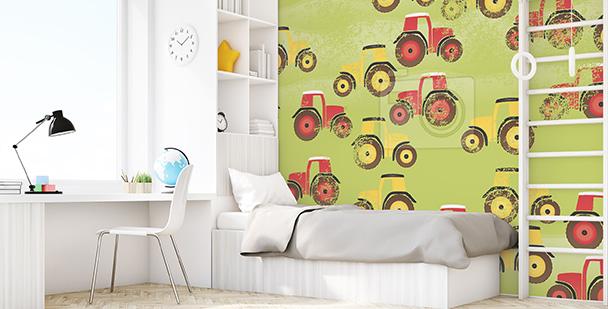 Tapeta dla dzieci traktory