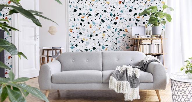 Tapeta w salonie na jednej ścianie – efektowny sposób na wnętrza