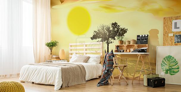 Tapeta drzewo do sypialni