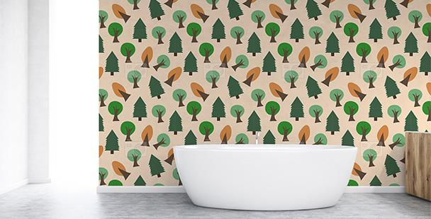 Tapeta jesienne drzewa do łazienki
