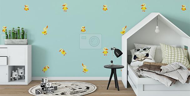Tapeta kaczątka do pokoju dziecka